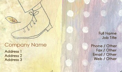 Walking Water Color Business Card Template